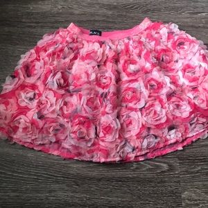 Hot pink and light pink/black skirt
